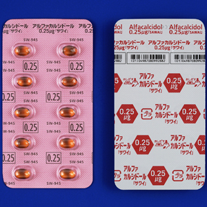 Alfacalcidol阿法骨化醇胶囊0.25μg「沢井」(劇):100粒