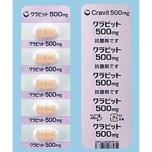Cravit左氧氟沙星500mg:5片