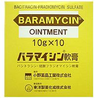 Baramycin杆菌肽/硫酸放射霉素 复合软膏:10g×10支