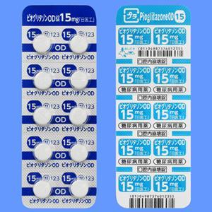 Pioglitazone吡格列酮OD口崩片15mg「日医工」(2型):100片