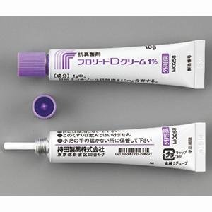 Florid-D硝酸咪康唑乳膏1%:10g×5支