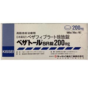 Bezatol苯扎贝特SR200mg:100片