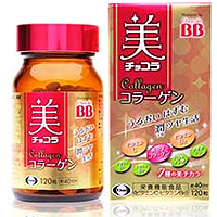 卫材Eisai chocola BB 维生素C B6美肌胶原蛋白120粒