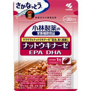 小林制药 纳豆+DHA+EPA+银杏叶 日常保健胶囊 :30粒