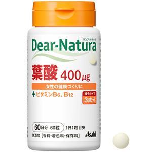 Asahi朝日Dear-Natura叶酸+维生素B6/B12:60粒
