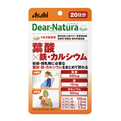 朝日Asahi Dear-Natura 叶酸×铁・钙:40粒