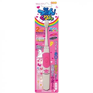 丸万Maruman日本制儿童用16000震率电动牙刷JS002-PK:粉色