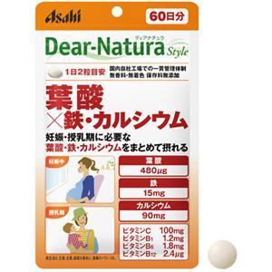 Asahi朝日Dear-Natura 叶酸×铁・钙:120粒