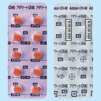 Adalat硝苯地平缓释片CR40mg:20片