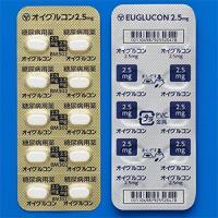 Euglucon格列本脲片2.5mg:100片