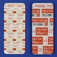 Pergolide甲磺酸培高利特片250μg「沢井」:100粒