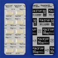 Pergolide甲磺酸培高利特片50μg「沢井」:100粒