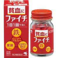 小林制药 女性贫血补血充铁叶酸维生素片:60粒【2類】