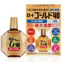 乐敦ROHTO中老年人专用黄金40眼药水 :20ml【3類】