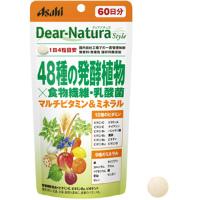 朝日Asahi Dear-natura 48种植物酵素+食物纤维・乳酸菌:240粒(60日分)