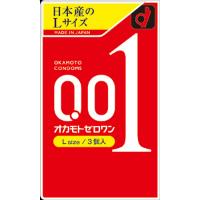 日本冈本001 新版L号 超薄安全套避孕套 :3只装/盒