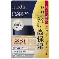 嘉娜宝 media 高保湿粉底霜OC-C1(自然肤色)SPF25+++:25g