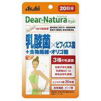 朝日Asahi Dear-Nature 乳酸菌×双歧杆菌+食物纤维・低聚糖:20粒