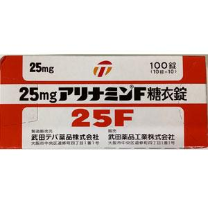 25mg. Alinamin-F Sugar-Coated Tablets : 100 tablets