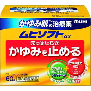かゆみ肌の治療薬ムヒソフトGX:60g入