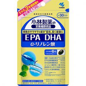 小林製薬の栄養補助食品 DHA EPA α-リノレン酸:180粒入