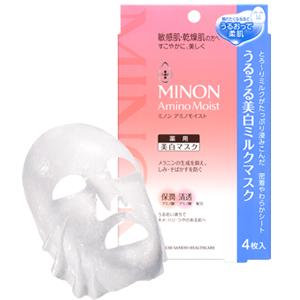 ミノンアミノモイスト うるうる美白ミルクマスク:20mL×4枚入