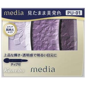 メディア グラデカラーアイシャドウ(PU-01):3.5g入