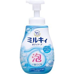 泡で出てくるミルキィボディソープ やさしいせっけんの香り(ポンプ付):600mL入
