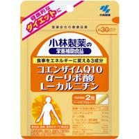 小林製薬の栄養補助食品 コエンザイムQ10αリポ酸L-カルニチン:60粒入