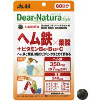 ディアナチュラスタイル ヘム鉄×葉酸+ビタミンB6・B12・C:120粒入(60日分)