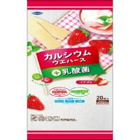 カルシウムウエハース+乳酸菌 イチゴ味:20枚入