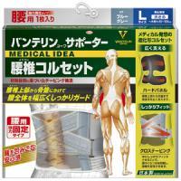 バンテリンコーワサポーター 腰椎コルセット ブルーグレー(大きめL・男女兼用):1枚入