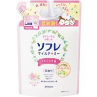 ソフレ マイルド・ミー ミルク入浴液 和らぐサクラの香り(つめかえ用):600mL入