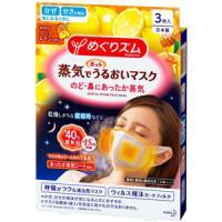 めぐりズム 蒸気でホットうるおいマスク ハニーレモンの香り ふつうサイズ:3枚入