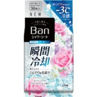 Ban 爽感さっぱりシャワーシート<クールタイプ>(フローラルクーラーの香り):36枚入