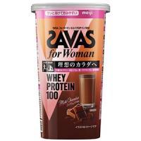ザバス for Woman ホエイプロテイン100 ミルクショコラ風味:294g入(約14食分)