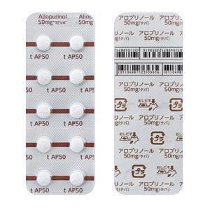 アロプリノール錠50mg「テバ」 100錠(10錠×10)