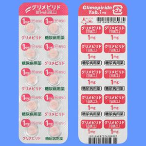 グリメピリド錠1mg「日医工」 100錠(10錠×10PTP)