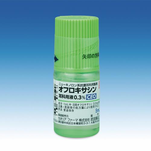 オフロキサシン耳科用液0.3%「CEO」:5ml (旧タリザート)※しばらくの間、新・旧の販売名称が混在します。