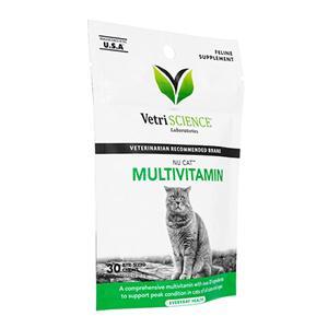 (VetriScience)NuCatマルチビタミン(猫用)30錠 1袋