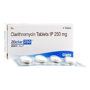 クラリスロマイシン250mg4錠 5箱