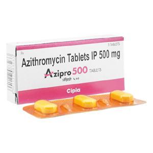 アジスロマイシン500mg3錠 1箱
