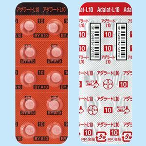 アダラートL錠10mg 100錠(10錠×10)