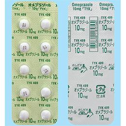 オメプラゾール錠10mg「TYK」 20錠(10錠×2)