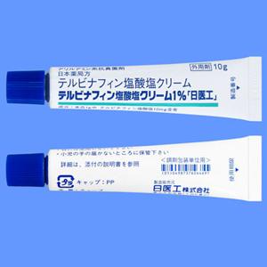 テルビナフィン塩酸塩クリーム1%「日医工」:10g×10本(テルフィナビンクリーム1%)