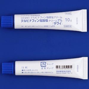 テルビナフィン塩酸塩クリーム1%「サワイ」:10g×5 (ラミテクトクリーム1%)