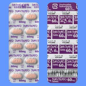 フェキソフェナジン塩酸塩錠60mg「SANIK」:100錠