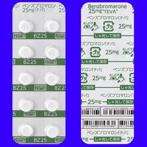 ●ベンズブロマロン錠25mg「テバ」 100錠(10錠×10シート)