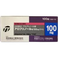 アロプリノール錠100mg「テバ」 100錠(10錠×10)(プロデック錠100mg)