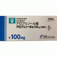 アロプリノール錠100mg「日医工」 100錠(10錠×10 PTP)(ミニプラノール錠100mg)